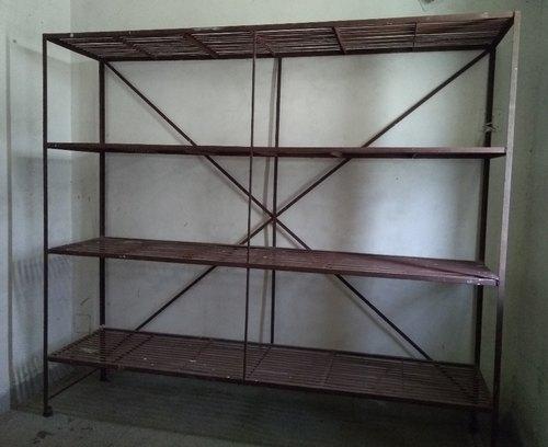 iron shelves
